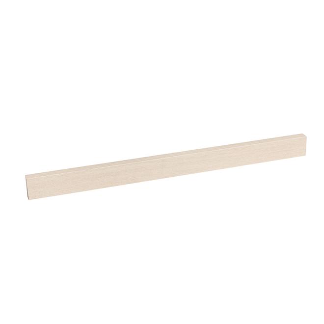 """Bordure de bois décorative, 23"""" x 2,5"""" x 0,75"""", chêne blanc"""