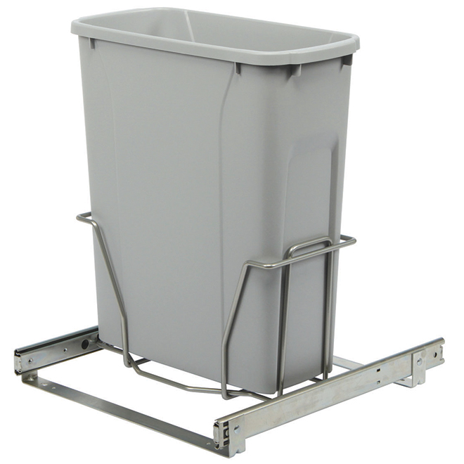 Real Solutions Pull-Out Waste Bin - Simple - 18 L - Platinum