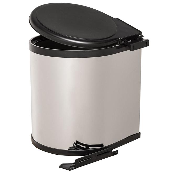 Poubelle pivotante Real Solutions, 12 litres, chrome et noir
