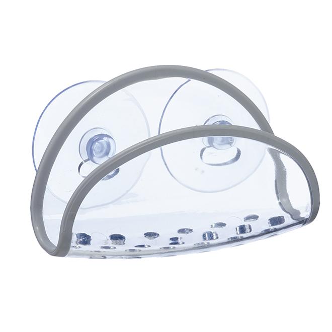 Porte-éponge, plastique, blanc