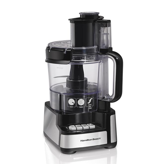 Robot culinaire, Stack & Snap, 12 tasses, noir
