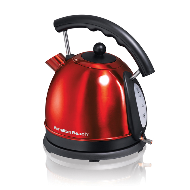 Cordless Electric Kettle - 1.7 L - Red Stainless Steel