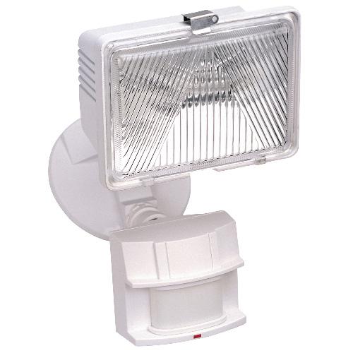 Lampe halogène étanche, 1 lumière, 180°, 250 W, blanc