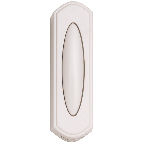 Heath Zenith White Wireless Push Button