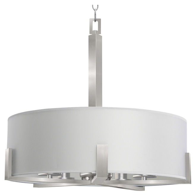 5-Light Pendant - Jaelyn - Satin Steel