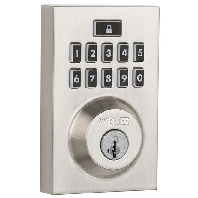 Weiser Smartcode 10 Electronic Lock - Metal - Satin Nickel