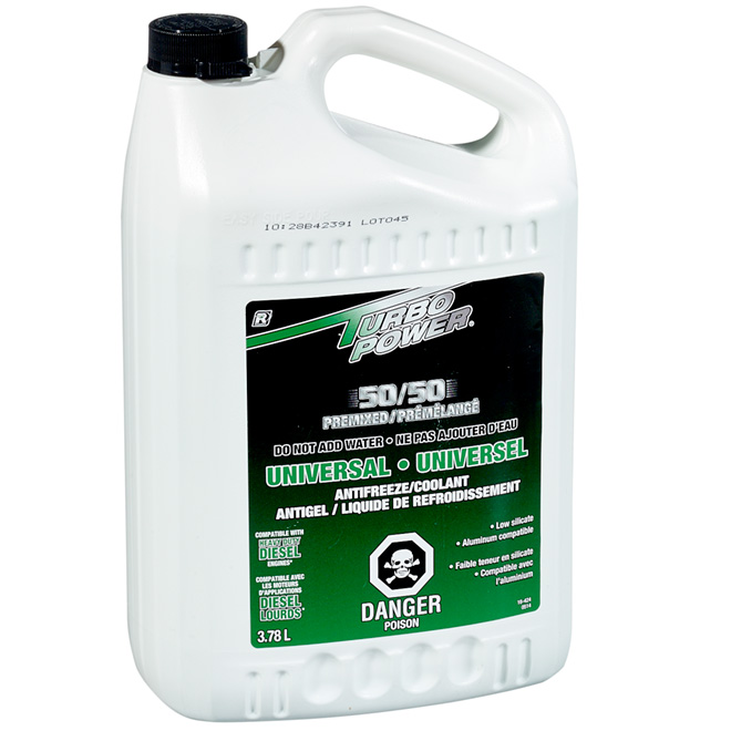Universal 50/50 Premix Antifreeze and Coolant - 3.78 L