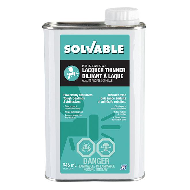 Diluant à laque Solvable, 946 ml