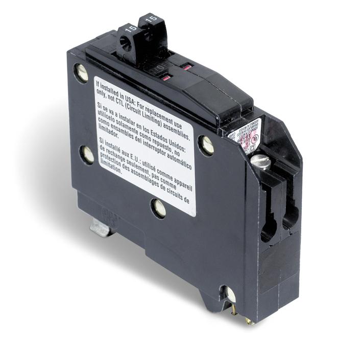 Disjoncteur en tandem (QO) de 15/15A 1P