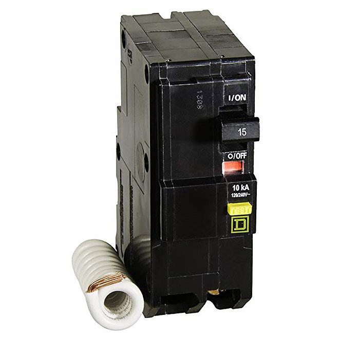 2-Pole Mini Circuit Breaker - 15 A - 120/240 V