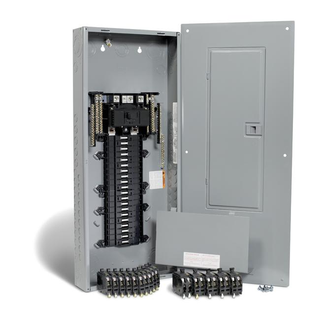 Ensemble panneau QO 200A, 40espaces/80 circuits