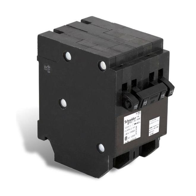 Disjoncteur quadruple 15/15A/1P -  15A/2P