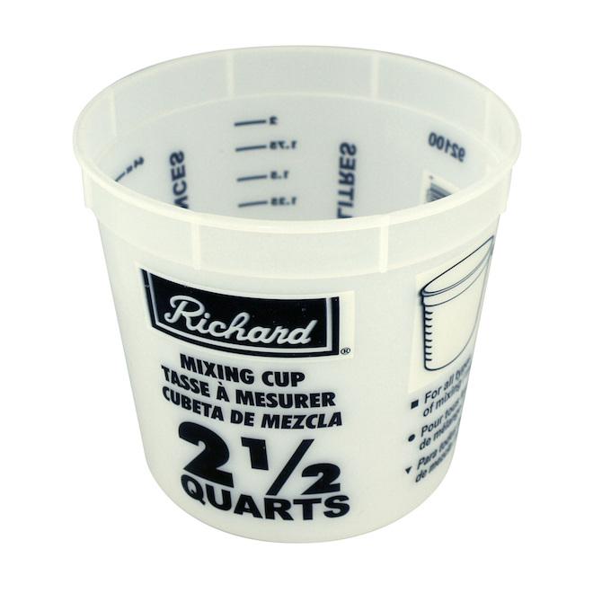 Pot pour mélange de peinture, 2,36 l