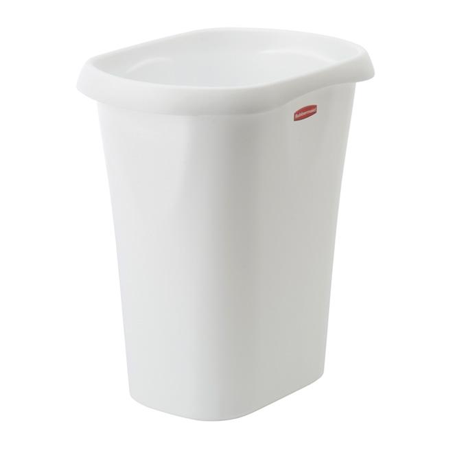 Basic Open Wastebasket - 11.36 L - White