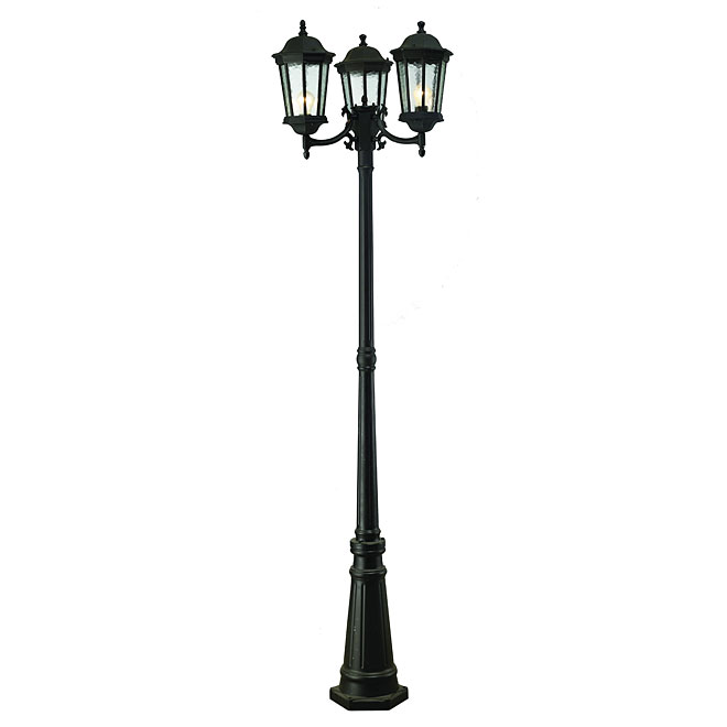 3-head outdoor lamp post