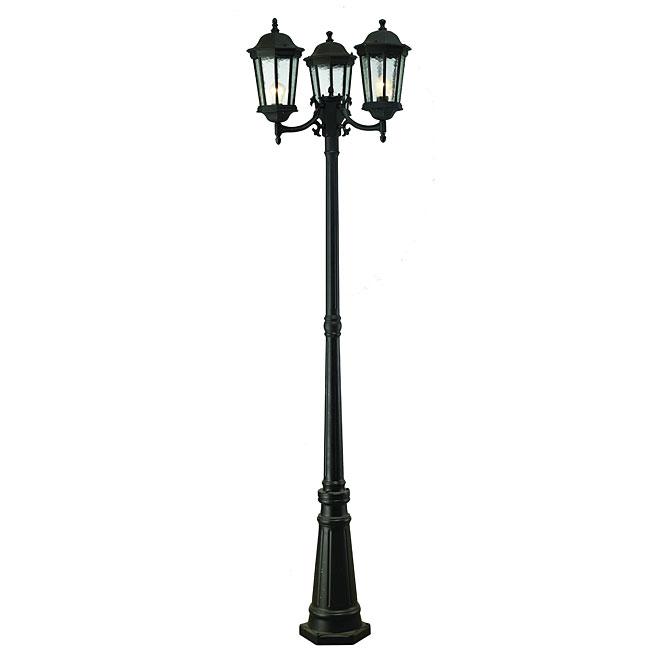 3 head outdoor lamp post