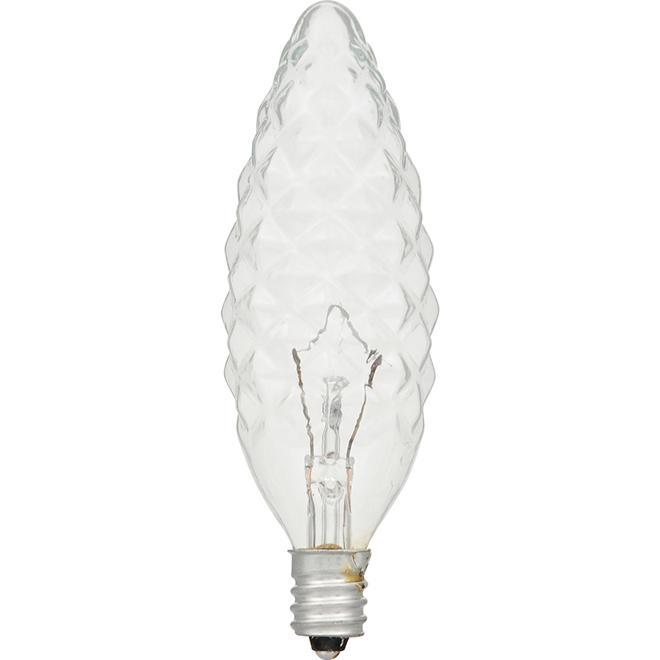 Chandelle B10 E12, intensité variable 40 W, blanc doux, 6/pqt