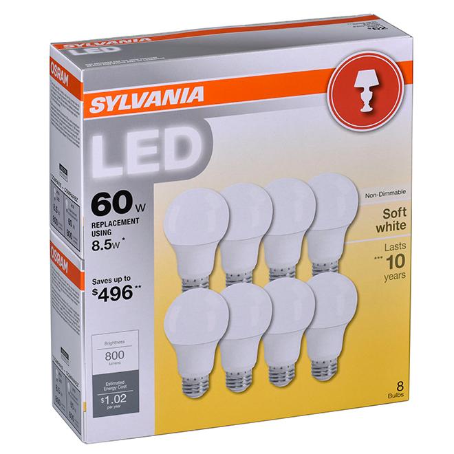 Ampoule DEL A19 E26, Intensité n-variable, blanc doux, PK1