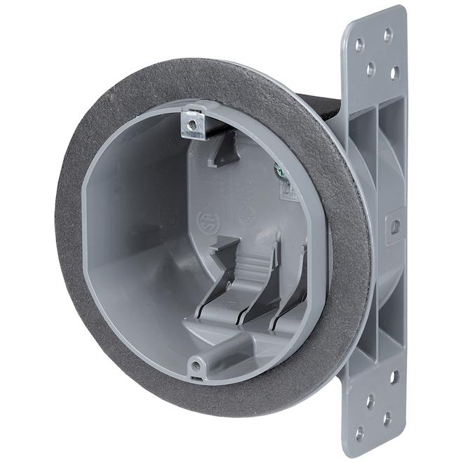"""Boîte de raccordement Nutek ronde pour plafond, 5 1/2"""", gris"""