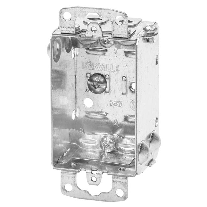"Device Boxes - Gangable - Cable Clamps - 1 1/2"" - 4/Pk"