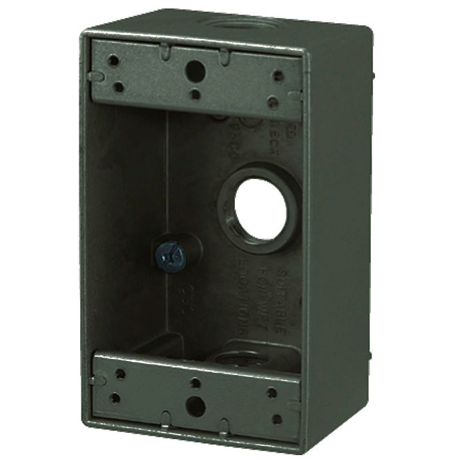 """Device Box - Weatherproof - 3-Hole - 1-Gang - 2"""""""