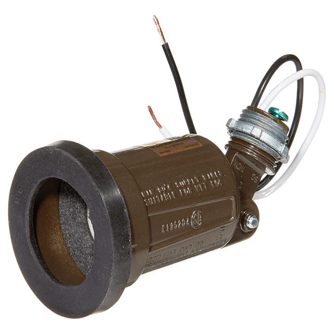 Porte-ampoules extérieur pour lampes 75 à 150 W, bronze