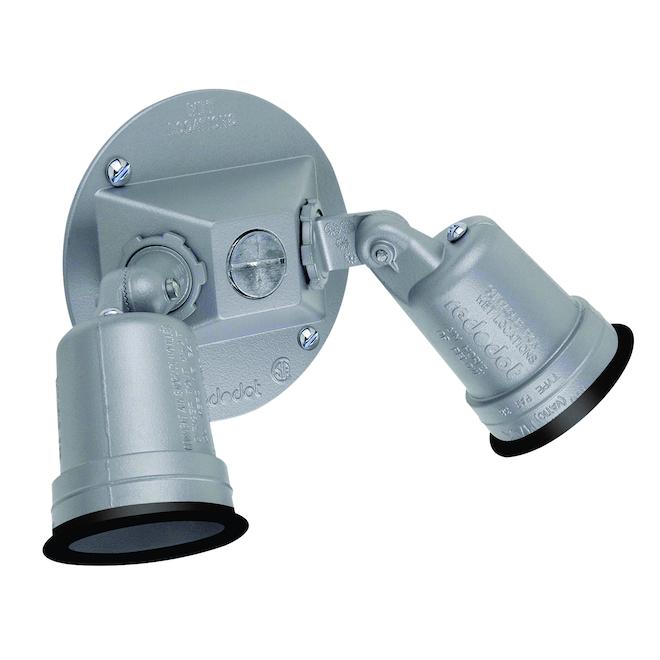 Porte-ampoules extérieur à deux têtes pour lampes 75 à 150 W
