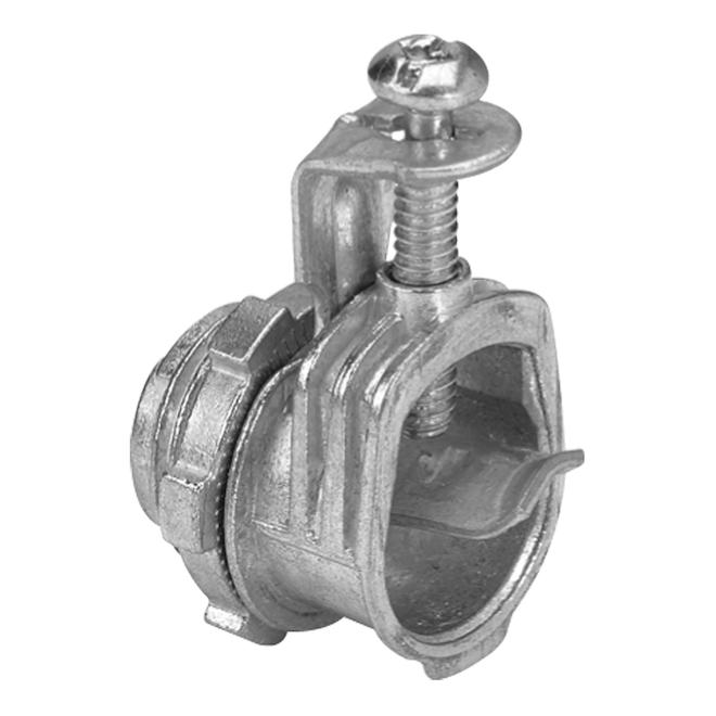 "Iberville(TM) 1-Screw Connector - 3/8"" - Grey - 55/Box"