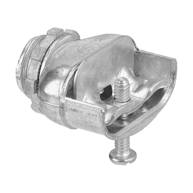 Connecteur double, alliage de zinc, 3/8'', bte/30