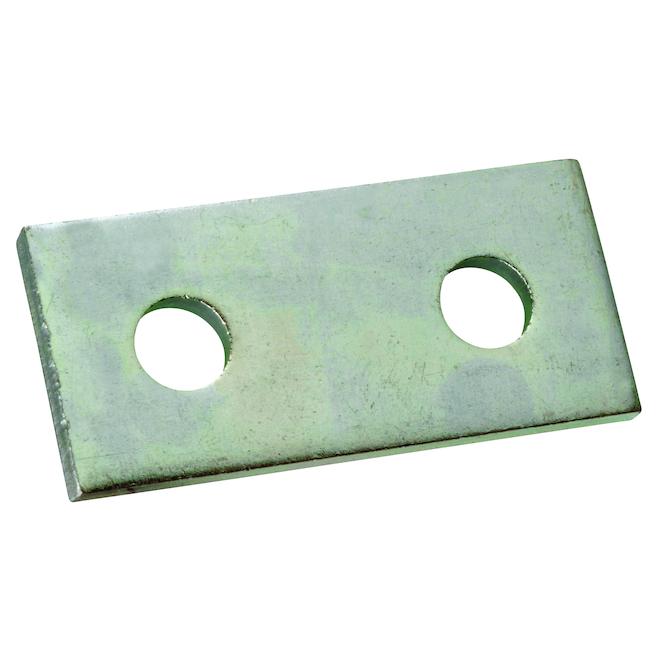 Superstrut 3.5-in Galvanized Steel Flat Splice with (2) 9/16-in holes