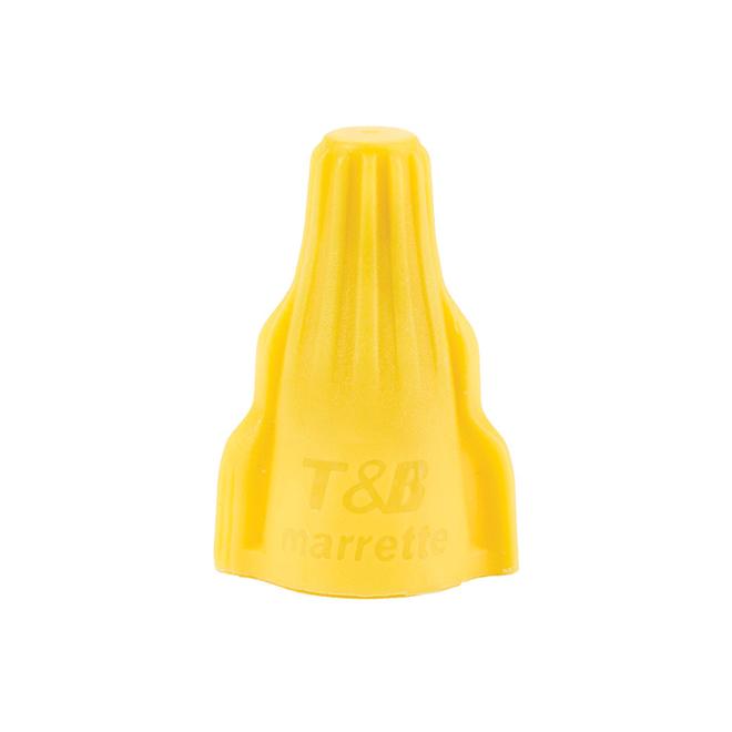 Connecteur de fil à oreilles, jaune, 100/pqt