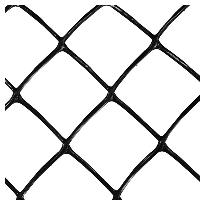 Clôture de plastique, 4' x 50' x 270g, noir