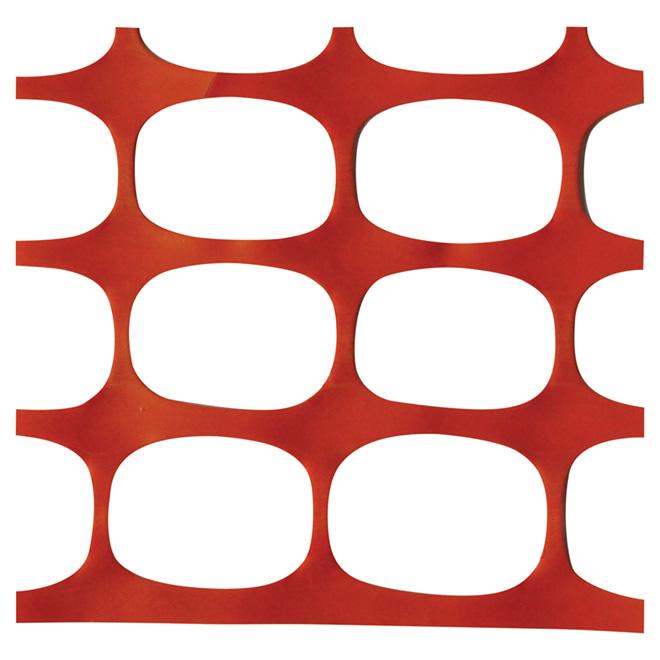 Clôture de sécurité, 4' x 50' x 190g, orange