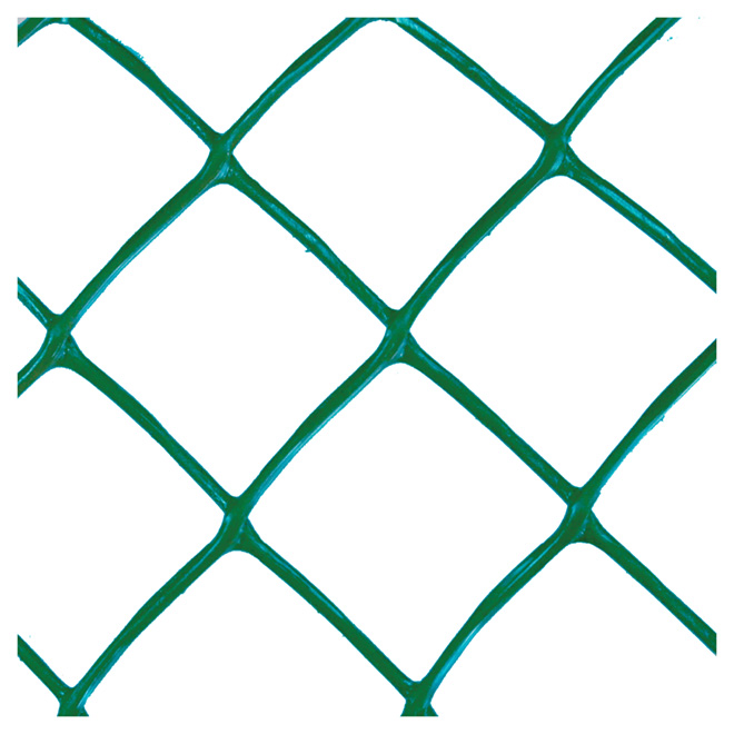 Clôture de plastique, 4' x 50' x 270g, vert