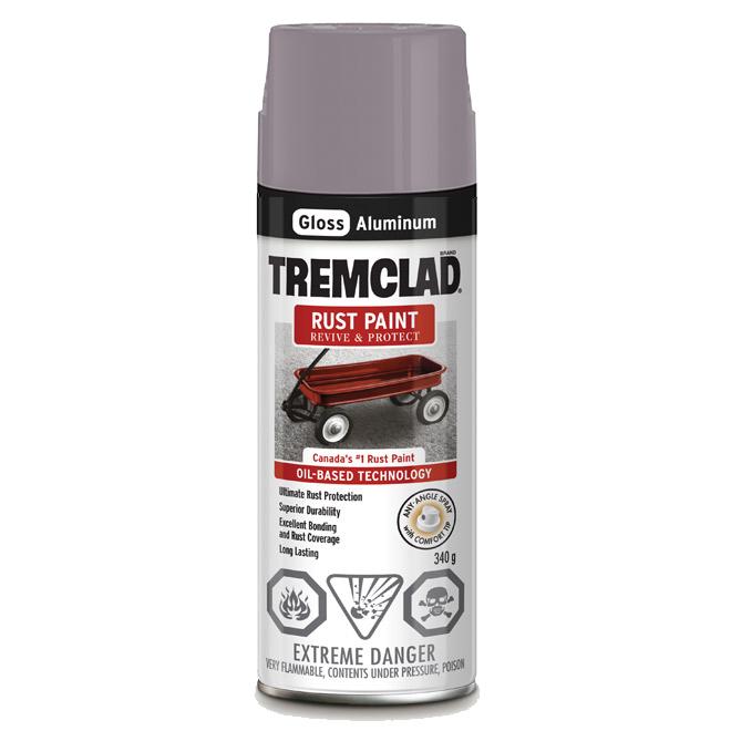 Tremclad Rust Spray Paint - 340 g - Aluminum - Gloss