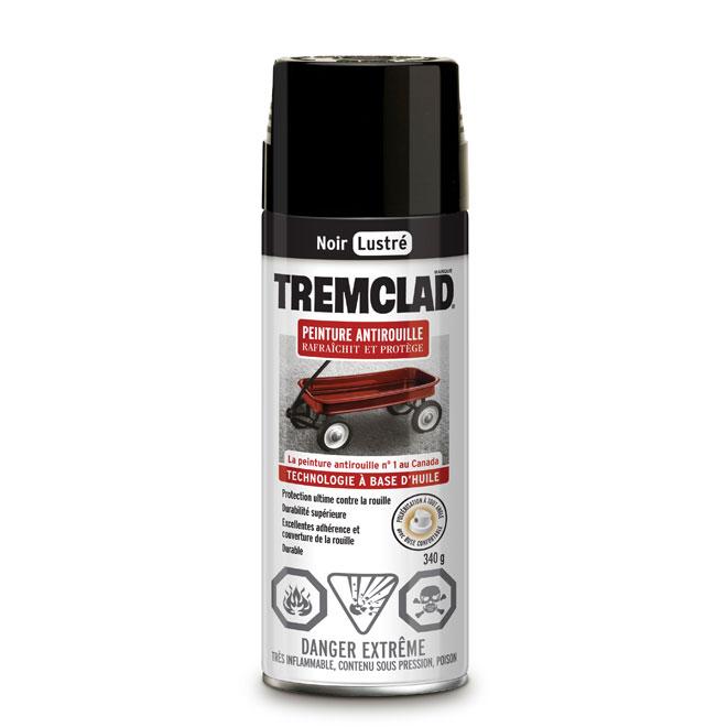 Peinture antirouille en aérosol Tremclad, 340 g, noir, lustré