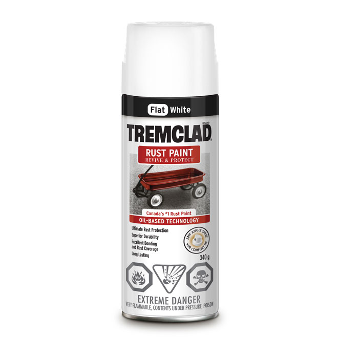 Tremclad Rust Spray Paint - 340 g - Flat White