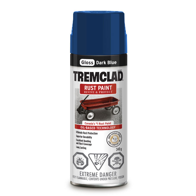 Tremclad Rust Spray Paint - 340 g - Dark Blue - Gloss