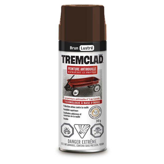 Peinture antirouille en aérosol Tremclad, 340 g, brun, lustré