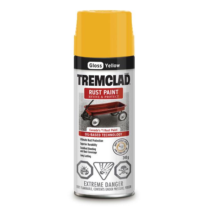 Tremclad Rust Spray Paint - 340 g - Yellow - Gloss