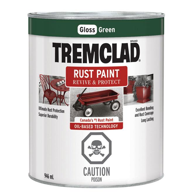 Tremclad Rust Paint - 946 ml - Green - Gloss Finish