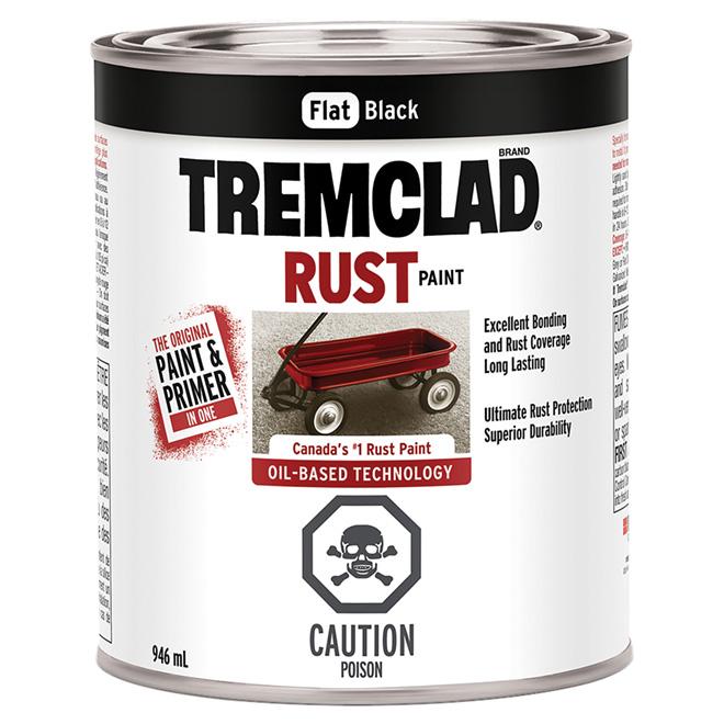 Tremclad Rust Paint - 946 ml - Black - Flat Finish