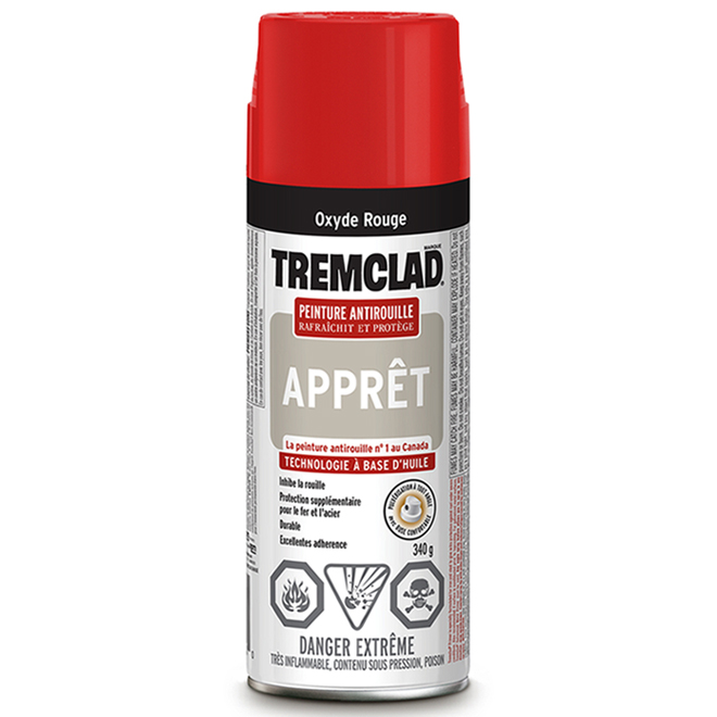 Apprêt antirouille Tremclad(MD), aérosol, 340 g, rouge