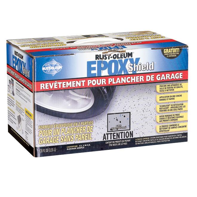 Revêtement pour plancher de garage EpoxyShield(MD), gris lustré