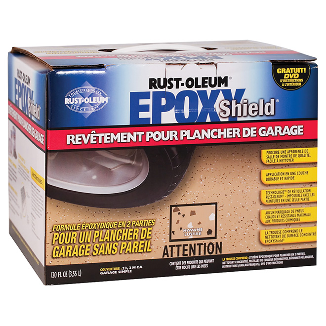Revêtement pour plancher de garage EpoxyShield(MD), havane lustré