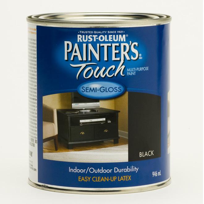 Peinture multi-usage Painter's Touch, à base d'eau, semi-lustré, noir, 946 ml