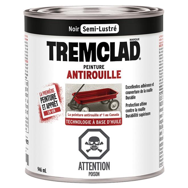 Antirouille, Tremclad, semi-lustré, 946 ml, noir