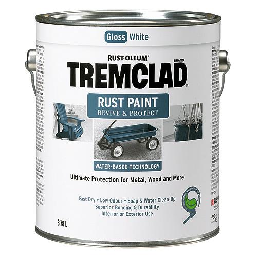 Tremclad - Antirust Paint - 3.78 l - Gloss Finish - White