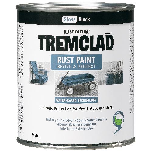 Tremclad - Antirust Paint - 946 ml - Gloss Finish - Black
