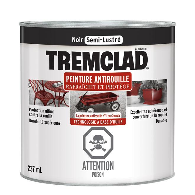 Peinture antirouille, Tremclad, 237 ml, fini semi-lustré, noir